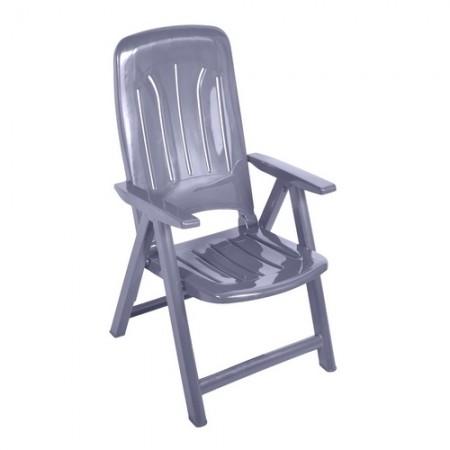 Műanyag napozó szék - szürke