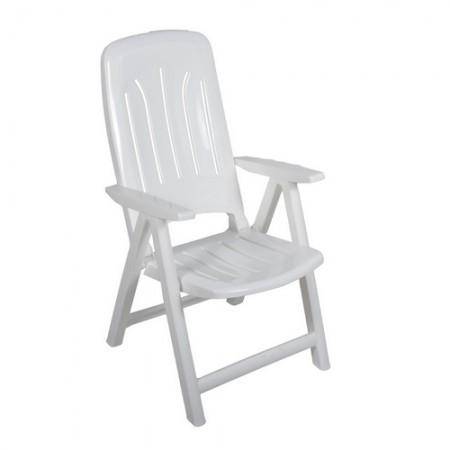 Műanyag napozó szék - fehér