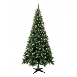 Mű karácsonyfa talpazaton - havas hatású 180 cm