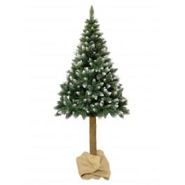 Mű karácsonyfa törzzsel - havas hatású 160cm