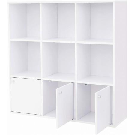 Könyvespolc 97.5 x 30 x 97.5 cm - fehér
