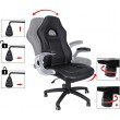 Magas hátú irodai szék - fekete