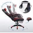 Gamer irodai szék: fekete - piros