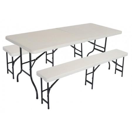 Asztal és 2 pad szett